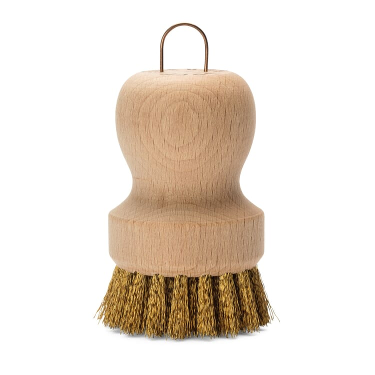 Pot Brush with Brass Wire