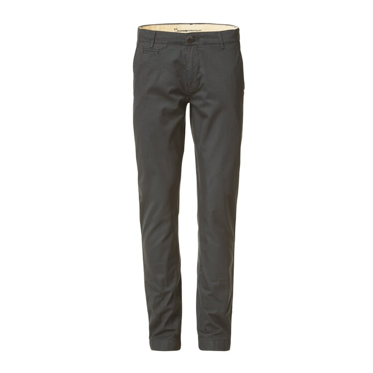 Knowledge Cotton Apparel Chino Trousers Anthracite
