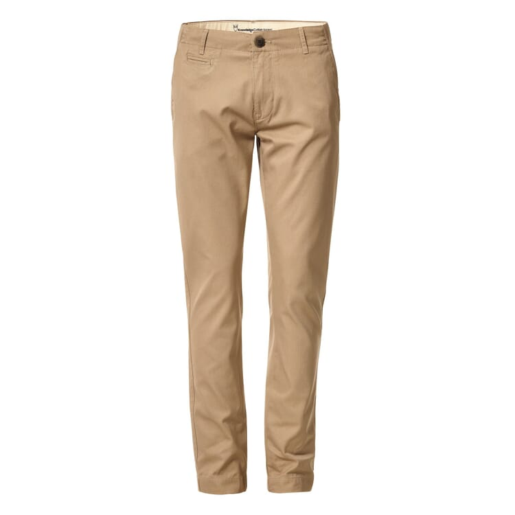Knowledge Cotton Apparel Chino Trousers, Beige