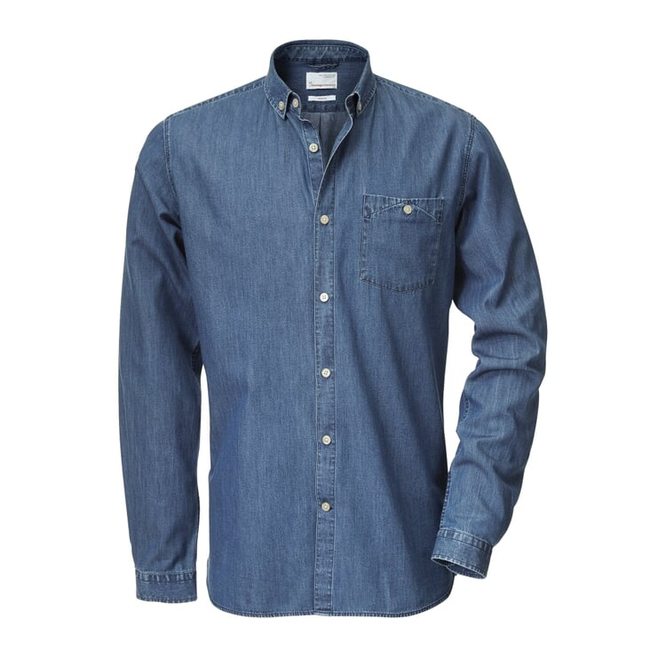 Knowledge Cotton Apparel Cotton Shirt Denim