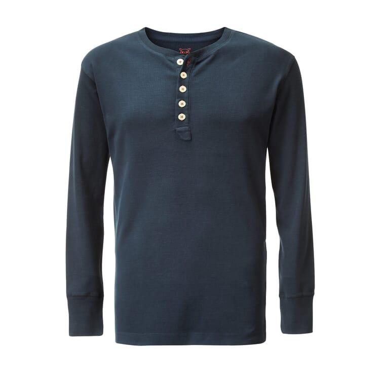 Henley Shirt by Knowledge Cotton Apparel, Dark Blue
