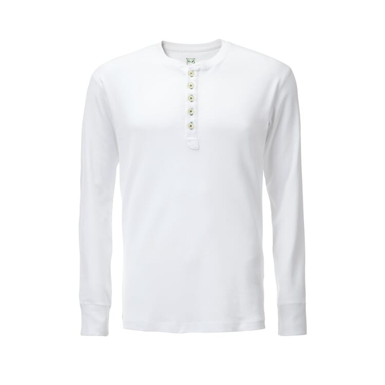 Henley Shirt by Knowledge Cotton Apparel, White