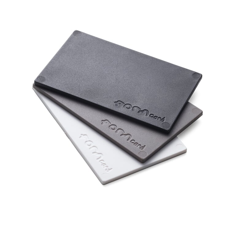 Modelling Material for Repairs Formcard One card each in black, grey and white