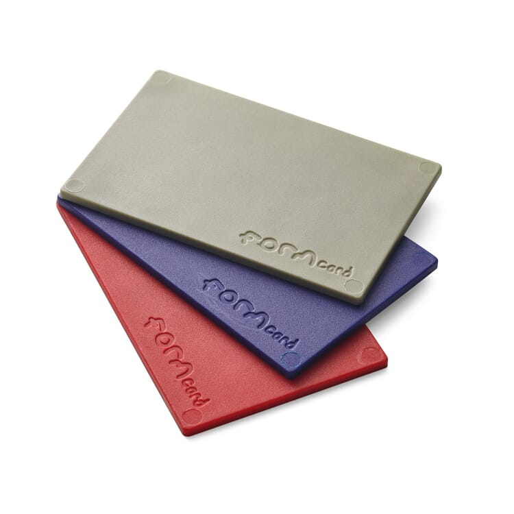 Modelling Material for Repairs Formcard, One card each in blue, red and khaki