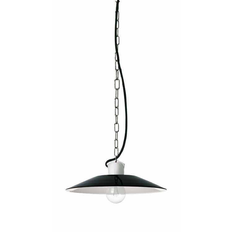 Small Pendant Light by Bolich Black