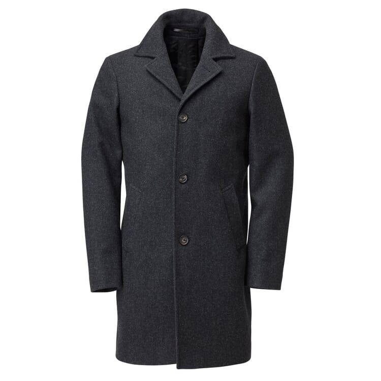 Men's Short Coat Virgin Wool, Grey