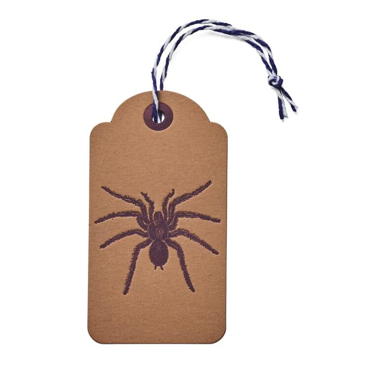 Anhängeetikett Tiermotiv (6 Stück), Spinne