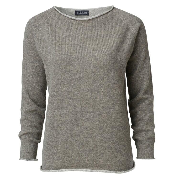 Seldom Women's Sweater Merino Wool Beige-Brown