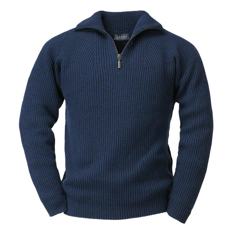 Men's Half-Zip Sweater by Seldom, Navy Blue