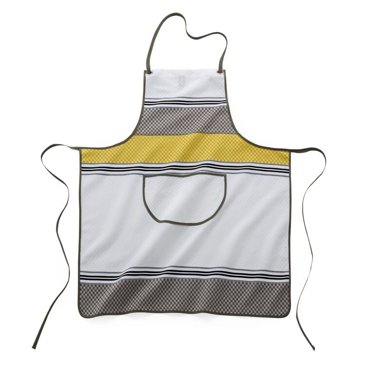 Apron Checked Pattern, White and Yellow