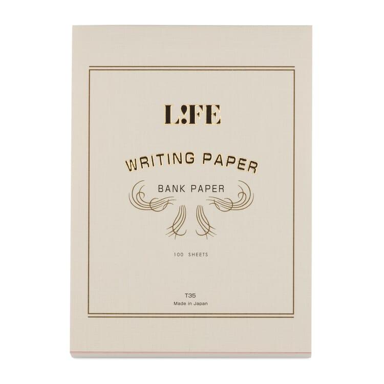 Schreibblock Bank Paper, Weißer Umschlag