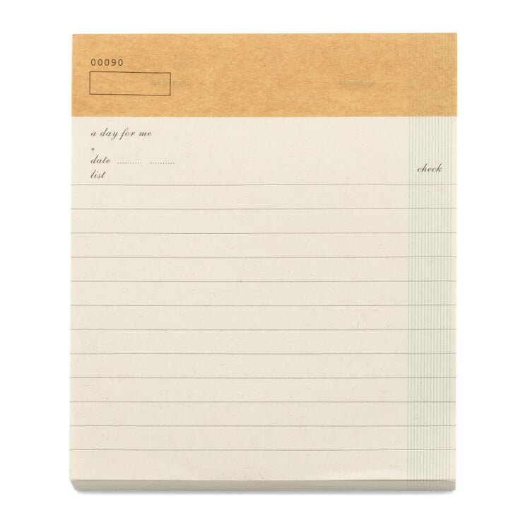 Check List Note Pad A5 White