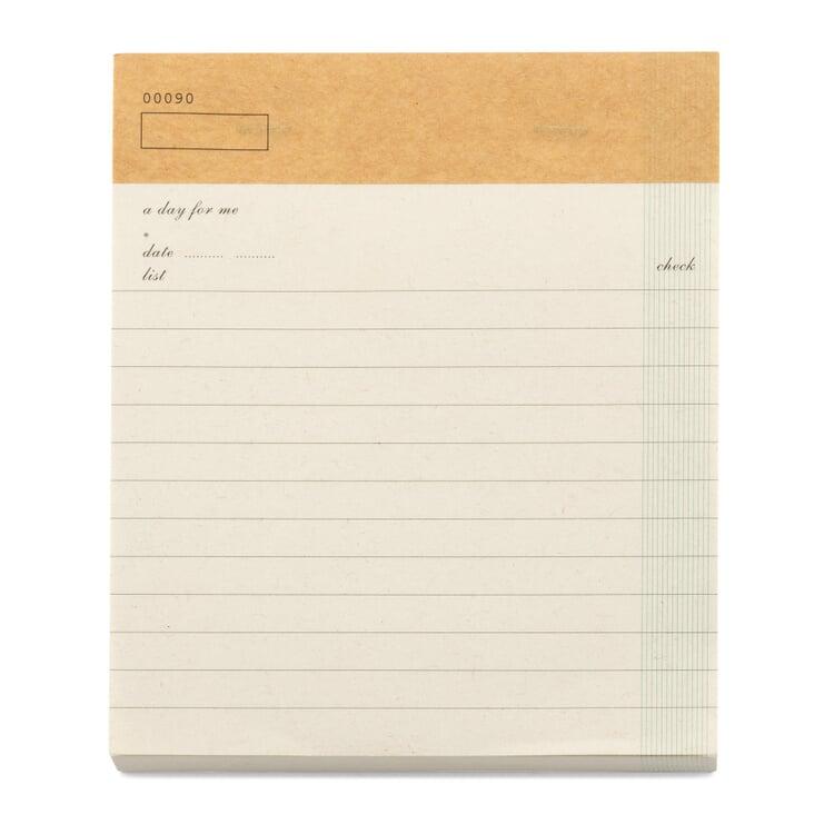 Notizblock Checkliste A5 Weiß
