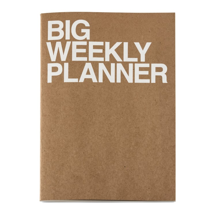 Weekly Schedule with a Saddle Binding A4