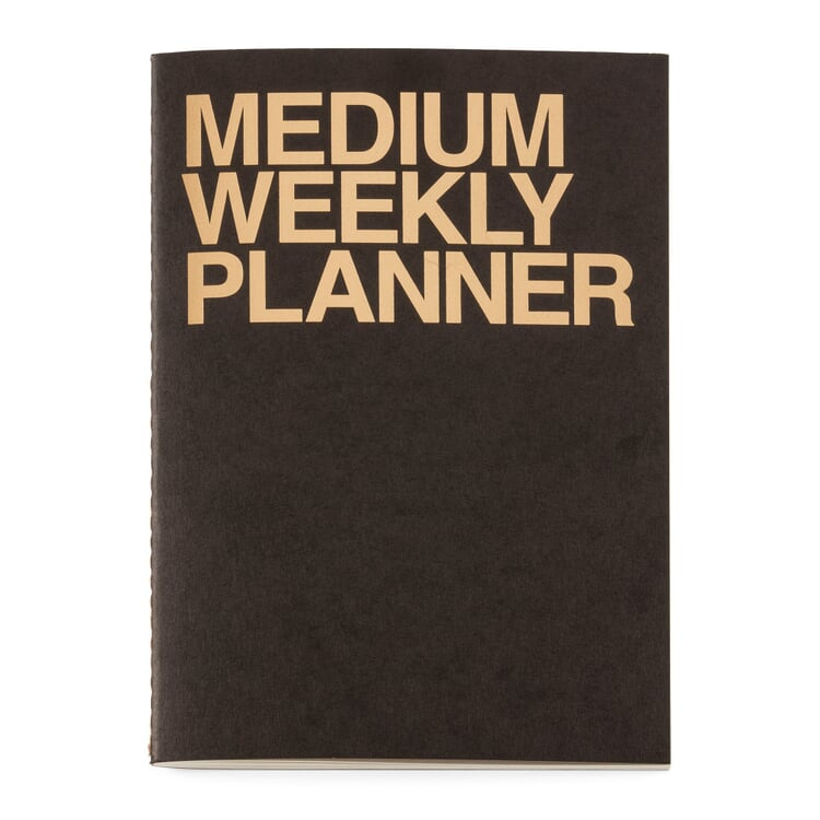 Weekly Schedule with a Saddle Binding A5