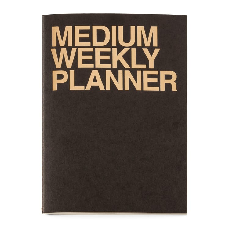Weekly Schedule with a Saddle Binding, A5