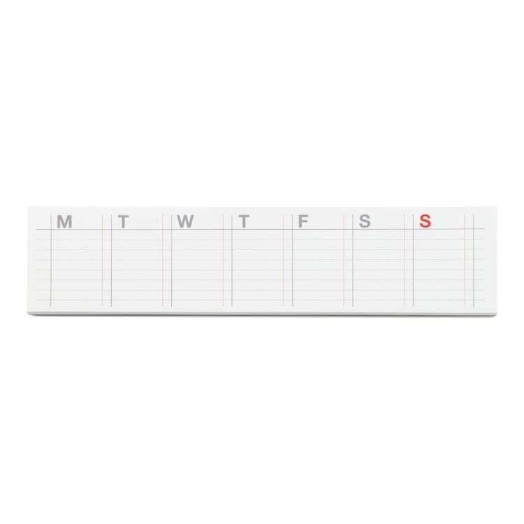 Weekly Planners with Self-Adhesive Pages