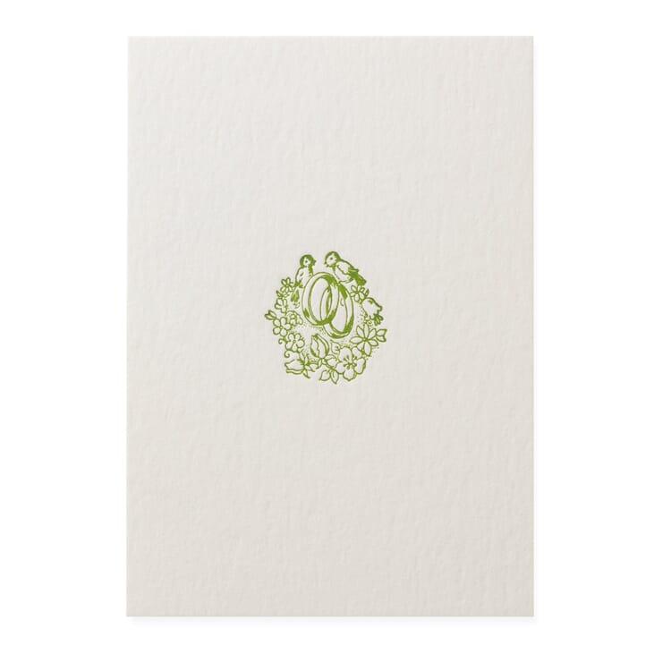 Grußkarte Buchdruck, Hochzeit