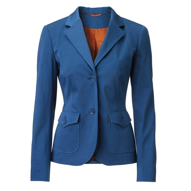 Damenblazer Baumwolle Mittelblau