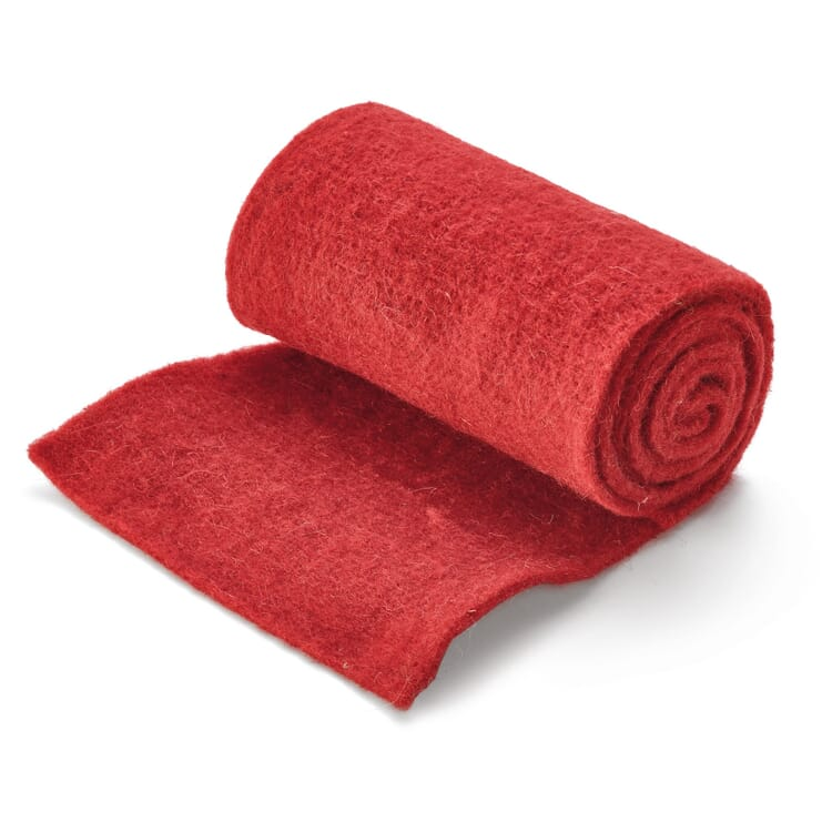 Sheep's Wool Protective Winter Matting, Red
