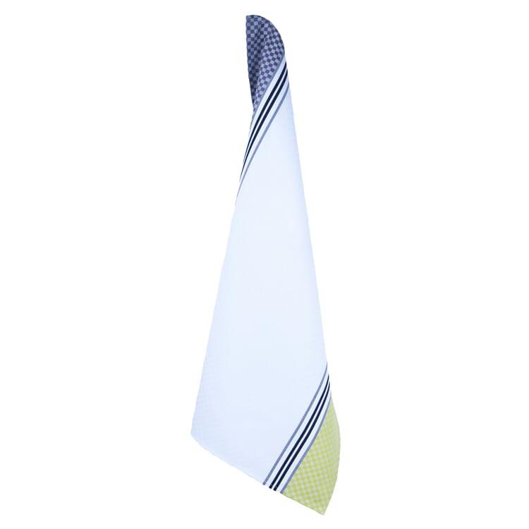 Geschirrtücher Karo, Weiß/Gelb