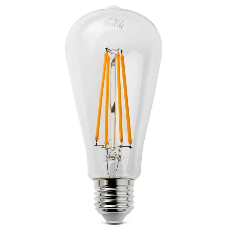 LED-Filament-Rustikalampe E27 7 W Klar