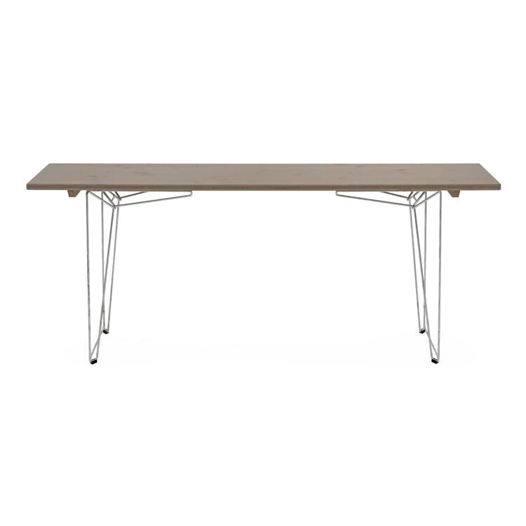 Tisch und Bank BTB Platte Achatgrau RAL 7038