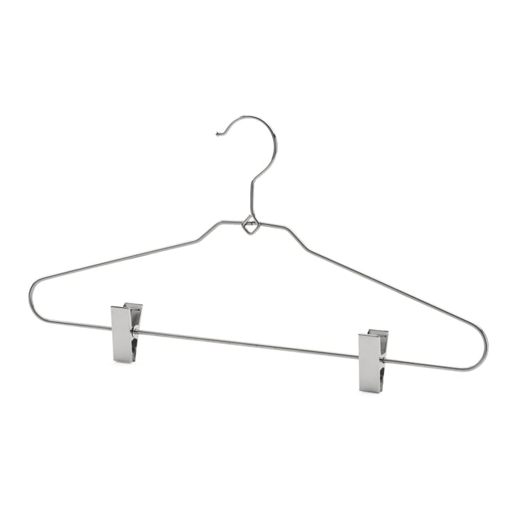 Clothes Hanger Made of Steel Wire with Clamps