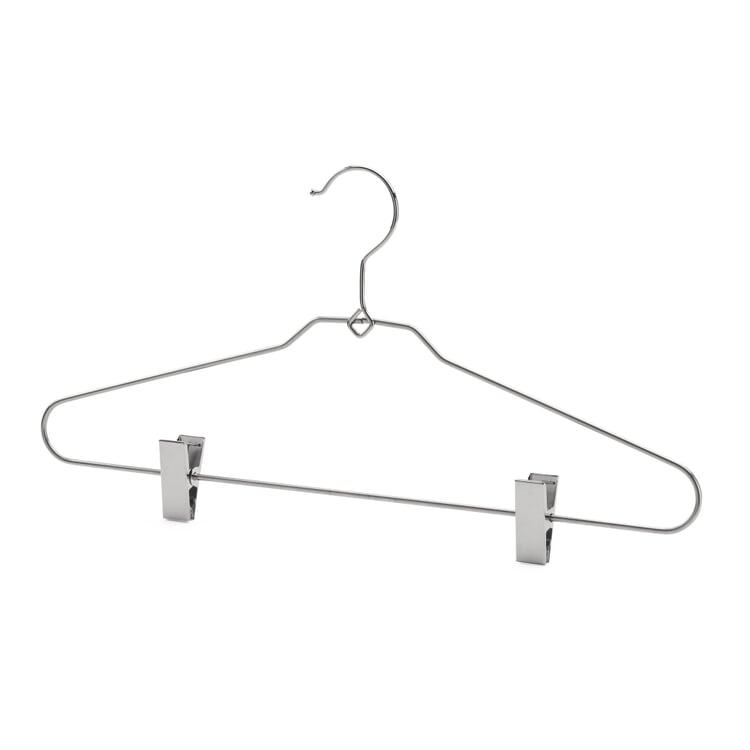 Kleiderbügel Stahl mit Klammern