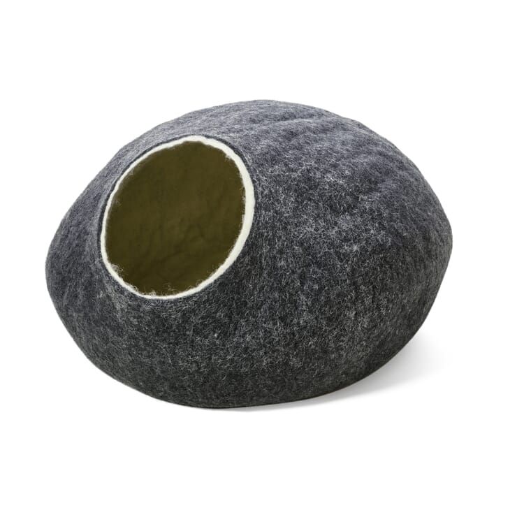 Felted Cat Cave, Grey