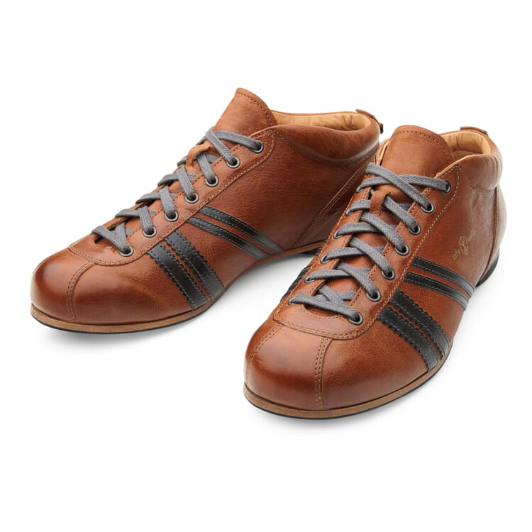 Zeha Leather Sport Shoe, Brown-Grey