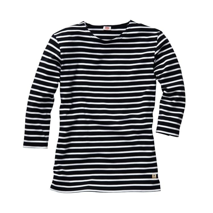 Armor lux Damen-Shirt Dreiviertelarm, Marine-Weiß