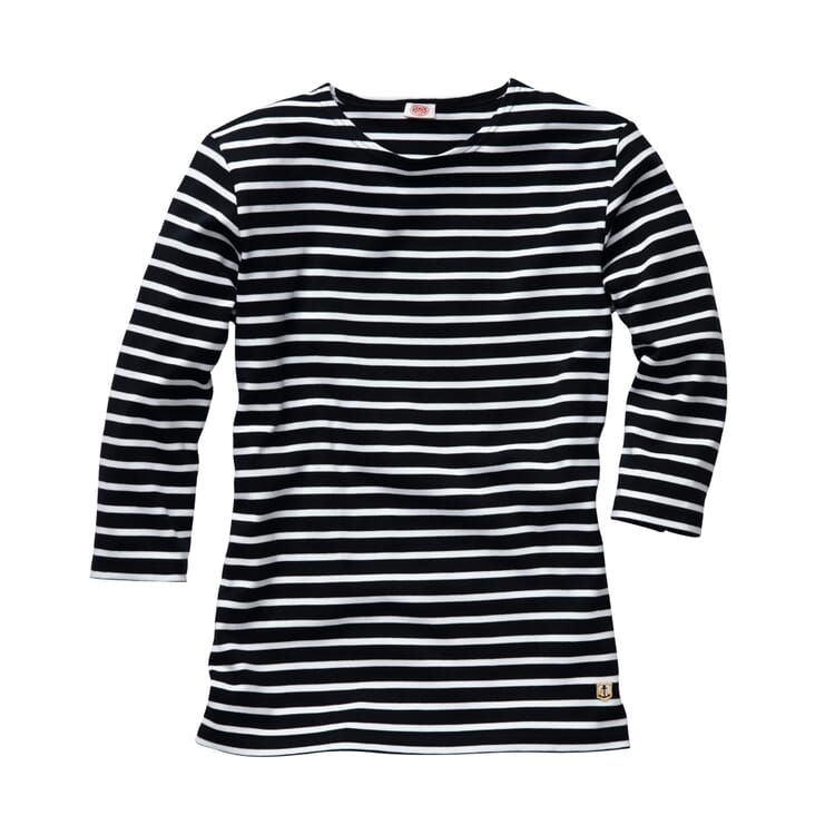 Women's Shirt with Three-Quarter-Lenght Sleeves by Armor lux, Navy blue-white