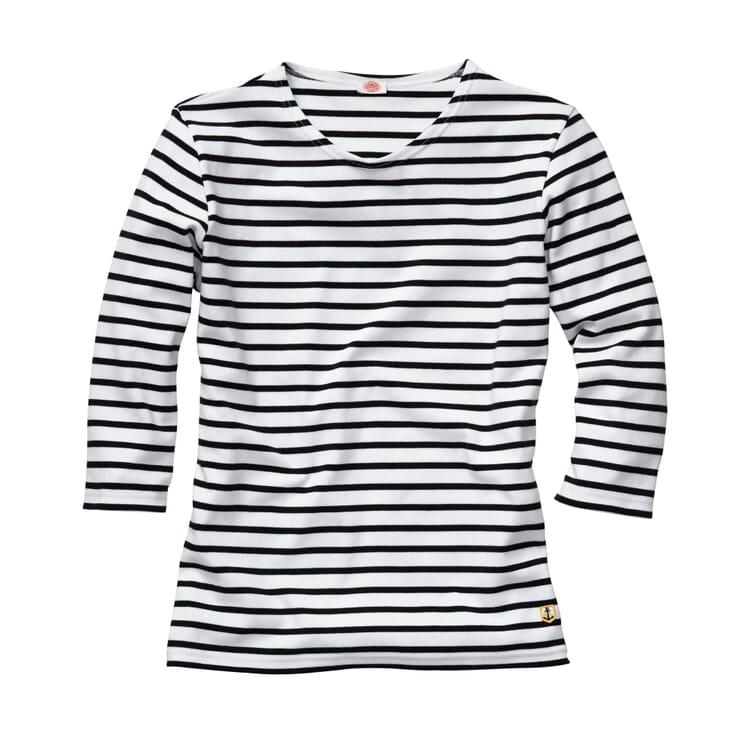 Armor lux Damen-Shirt Dreiviertelarm, Weiß-Marine