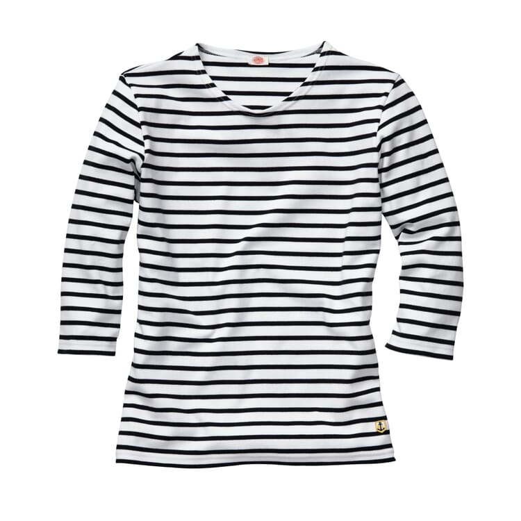 Women's Shirt with Three-Quarter-Lenght Sleeves by Armor lux, White-navy blue