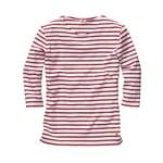 Armor lux Damen-Shirt Dreiviertelarm Weiß-Rot