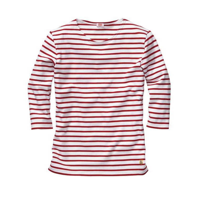 Armor lux Damen-Shirt Dreiviertelarm, Weiß-Rot