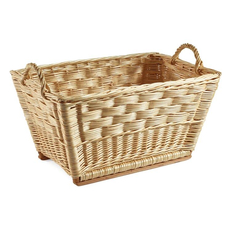 Honeycomb Weave Wicker Basket, Small