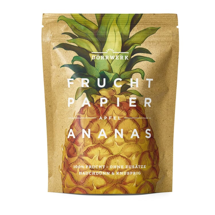 Dörrwerk Fruchtpapier Ananas-Apfel