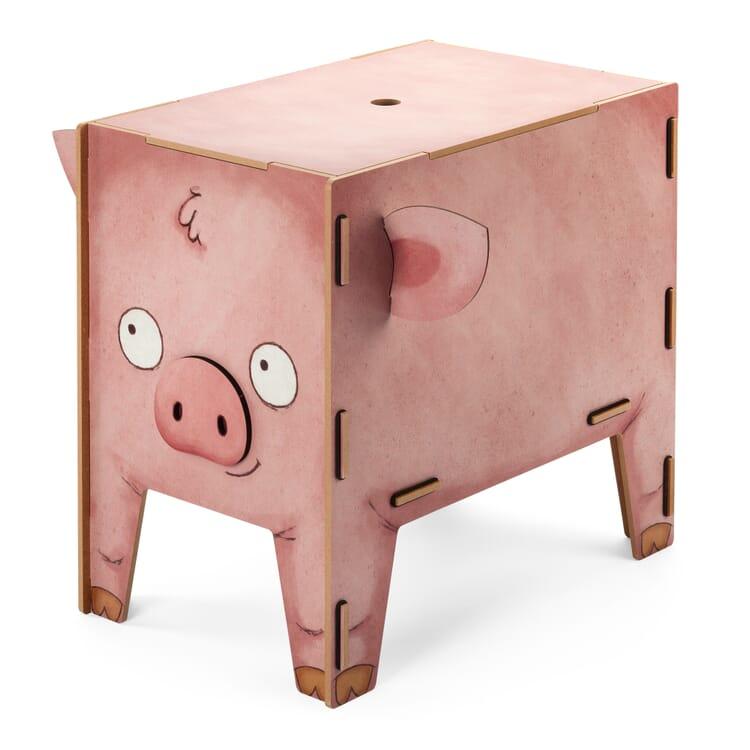 Werkhaus Truhenhocker, Schwein
