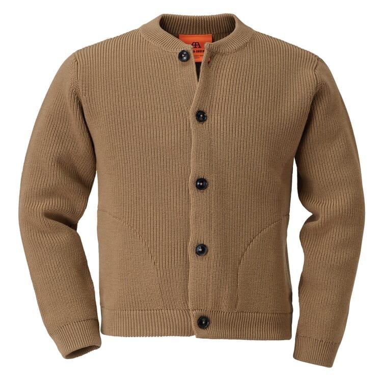 Andersen-Andersen Knit Merino Wool Jacket, Camel coloured