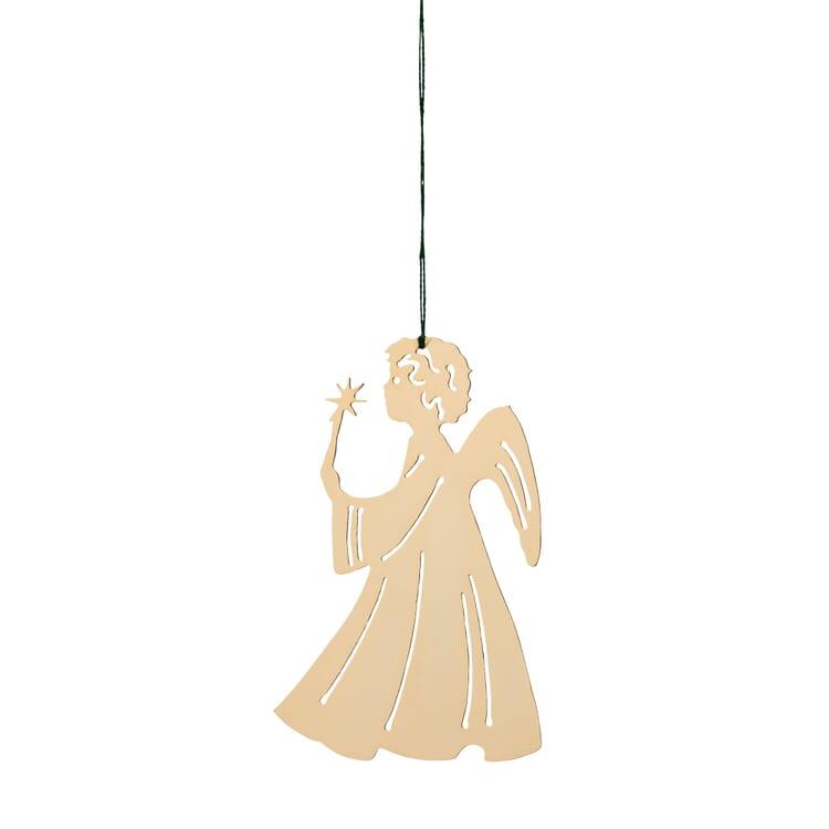 Messinghänger vergoldet, Engel mit Kerze