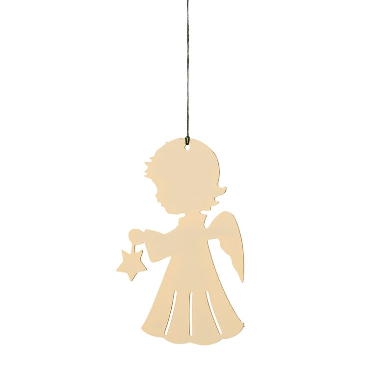 Gold-Plated Brass Pendant, Angel with Star