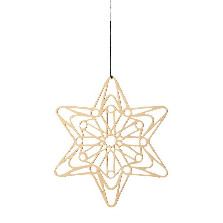 Messinghänger vergoldet, Filigranes Sternenmotiv, Ø 7 cm