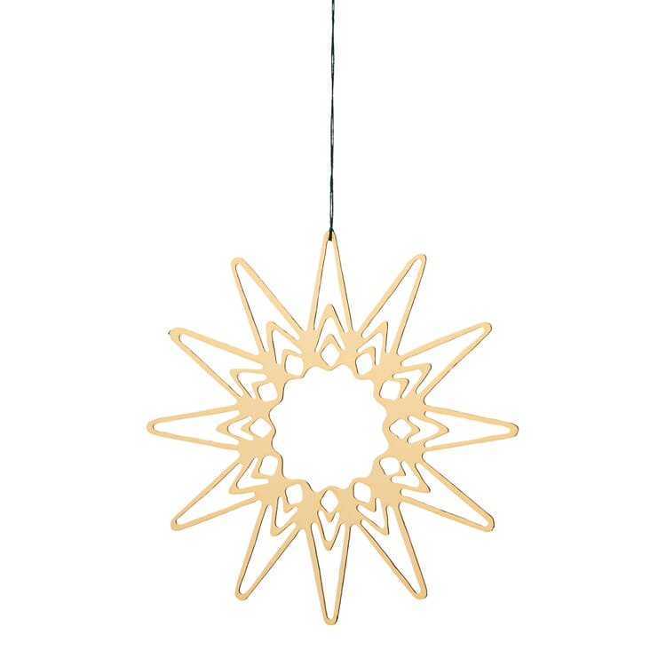 Gold-Plated Brass Pendant, Filigree Star Motif, Ø 6.5 cm