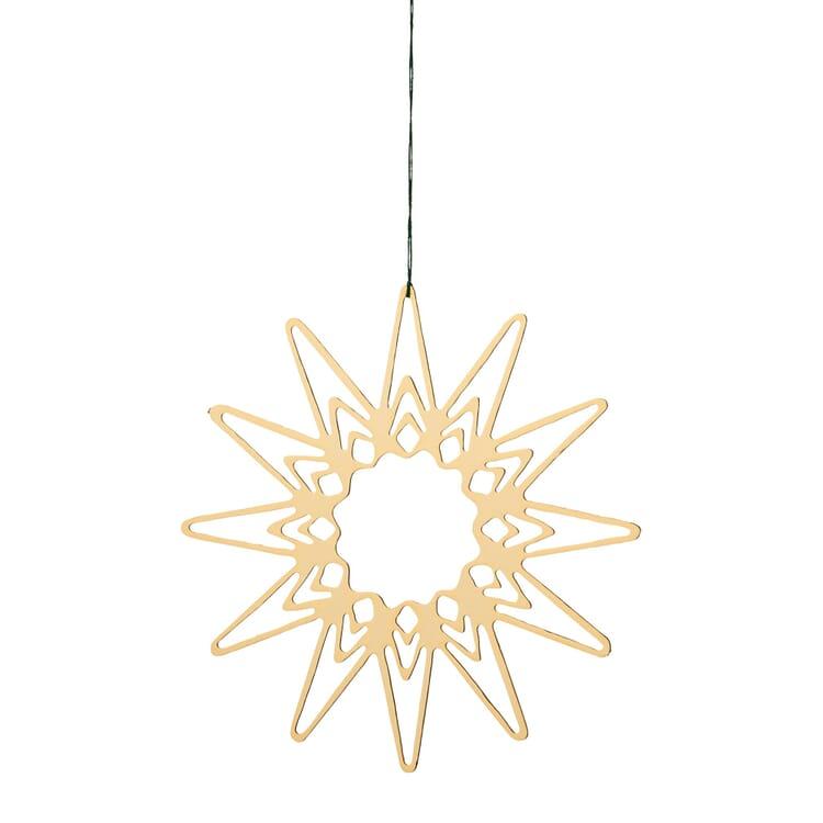 Messinghänger vergoldet, Filigranes Sternenmotiv, Ø 6,5 cm