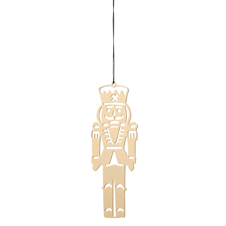 Gold-Plated Brass Pendant, Nutcracker