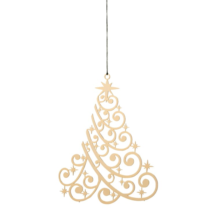Gold-Plated Brass Pendant, Christmas tree
