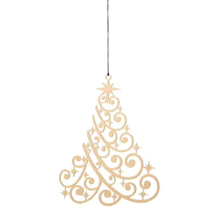 Messinghänger vergoldet, Weihnachtsbaum