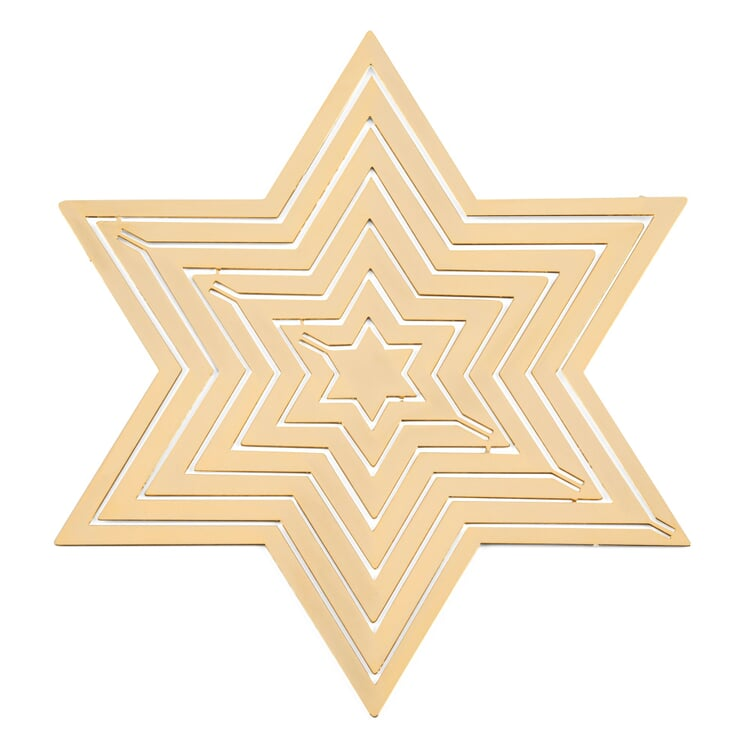 Gold-Plated Brass Collapsible Star